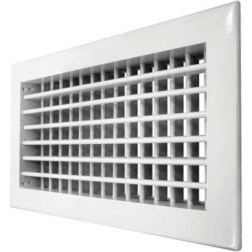Двухрядная решетка квадратная алюминиевая Airone 2VA 100х100
