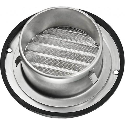 Вентиляционная решетка круглая из нержавеющей стали Вентс МВМ 100 бВ Н