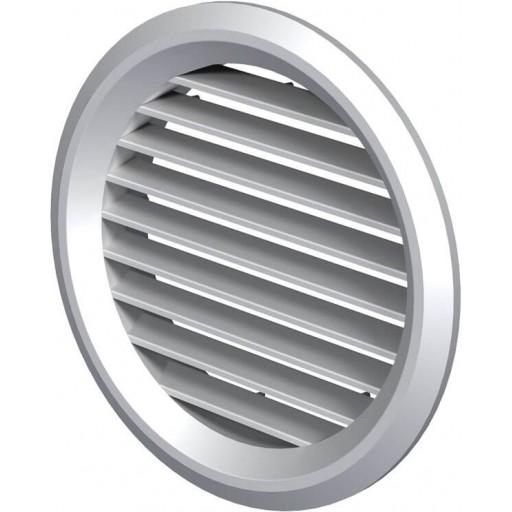Дверная решетка круглая пластиковая Вентс МВ 50/4 бВ (Светлый дуб)