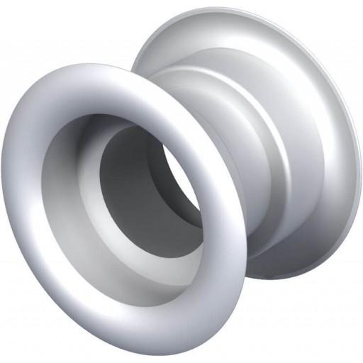 Дверная решетка круглая пластиковая Вентс МВ 52/4 бВ (Белая)