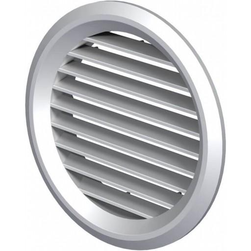 Дверная решетка круглая пластиковая Вентс МВ 80 бВс (Белая)