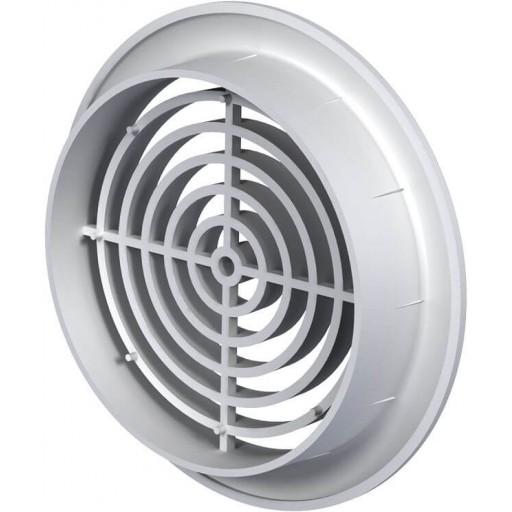 Дверная решетка круглая пластиковая Вентс МВ 81 бВс (Белая)