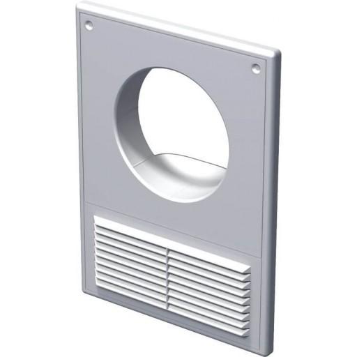 Вентиляционная решетка пластиковая с отверстием под воздуховод Вентс МВ 100 Кс