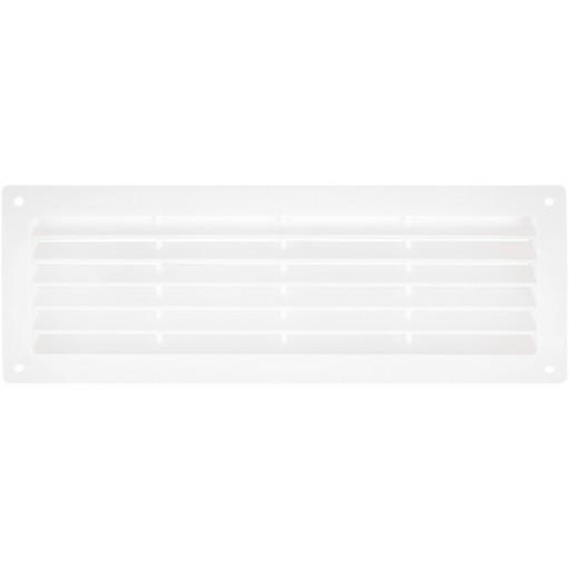 Дверная решетка прямоугольная пластиковая Вентс МВ 350 (Белая)