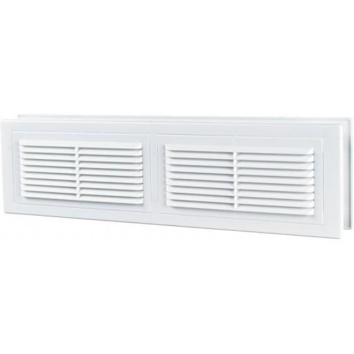 Дверная решетка прямоугольная пластиковая Вентс МВ 380/2