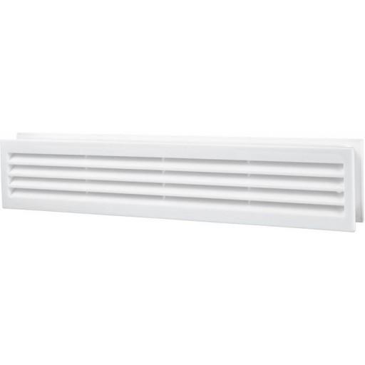 Дверная решетка прямоугольная пластиковая Вентс МВ 430/2