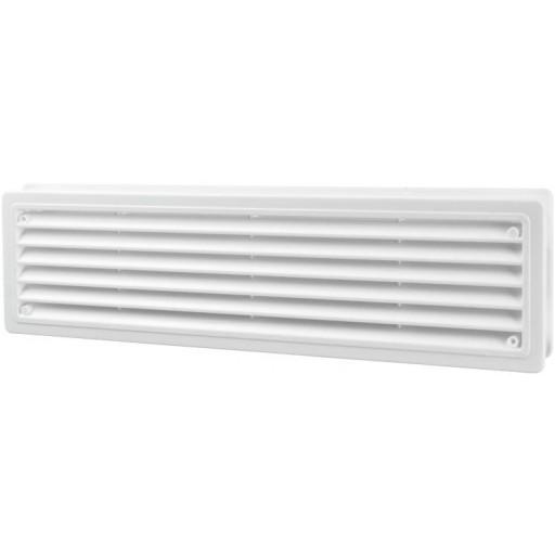 Дверная решетка прямоугольная пластиковая Вентс МВ 440/2