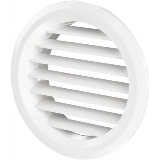 Дверная решетка круглая пластиковая Вентс МВ 50/4 бВ (Белая)