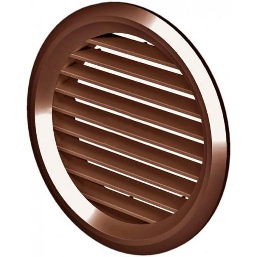 Дверная решетка круглая пластиковая Вентс МВ 50/4 бВ (Коричневая)