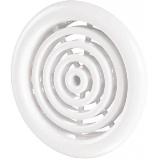 Дверная решетка круглая пластиковая Вентс МВ 51/4 бВ (Белая)