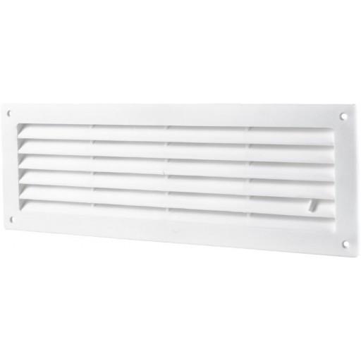 Дверная решетка прямоугольная пластиковая Вентс МВ 350 Р (Белая)