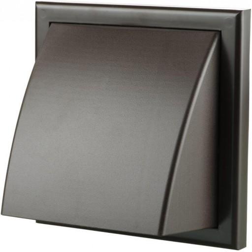 Вентиляционный колпак квадратный пластиковый Вентс МВ 102 ВК (Коричневый)