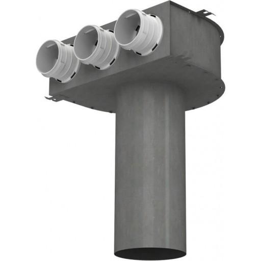 Пленум потолочный металлический Vents FlexiVent 0811125/75x3 / DN75