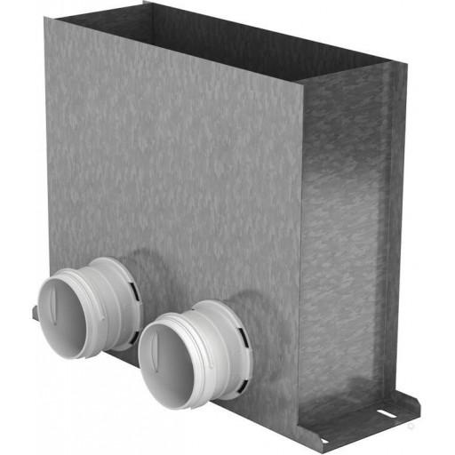 Пленум напольный металлический Vents FlexiVent 0821300x100/75x2 / DN75