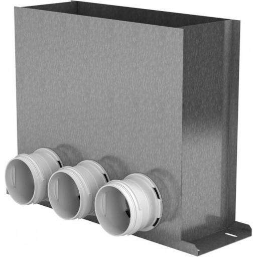 Пленум напольный металлический Vents FlexiVent 0821300x100/75x3 / DN75