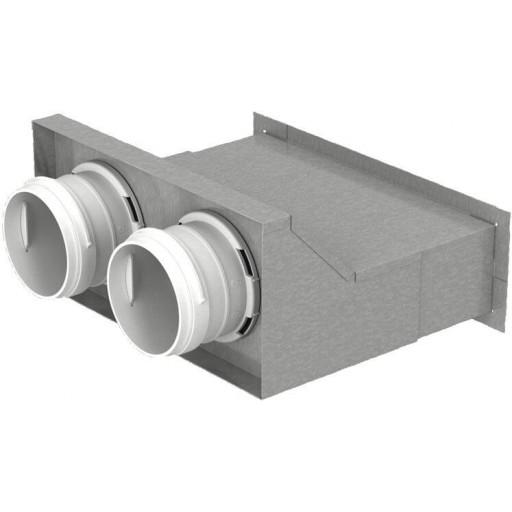 Пленум настенный металлический Vents FlexiVent 0832200x55/75x2 / DN75