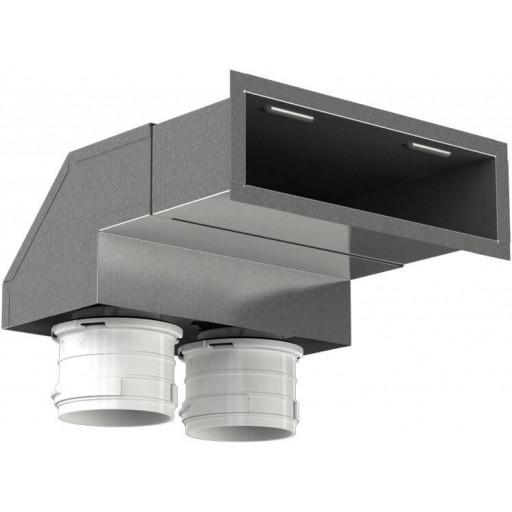 Пленум настенный металлический Vents FlexiVent 0833200x55/75x2 / DN75