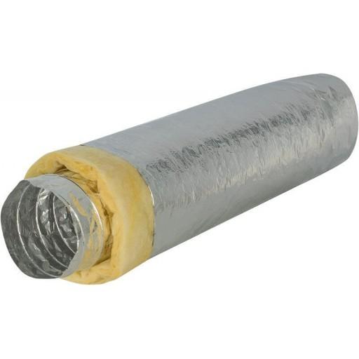 Гибкий теплоизолированный алюминиевый воздуховод DEC Isodec 25 100/10