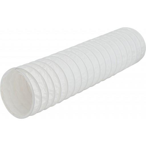 Гибкий пластиковый ПВХ воздуховод DEC PVC White 100/15