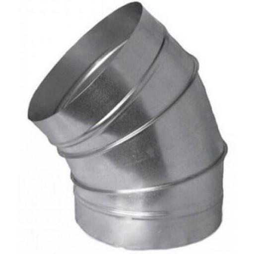 Отвод 45° круглый оцинкованный Ø100