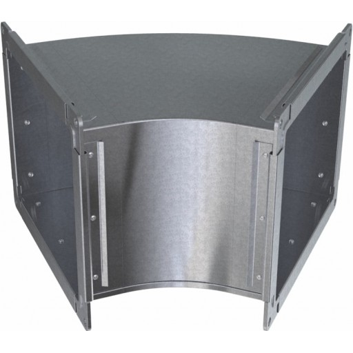 Отвод 45° прямоугольный оцинкованный