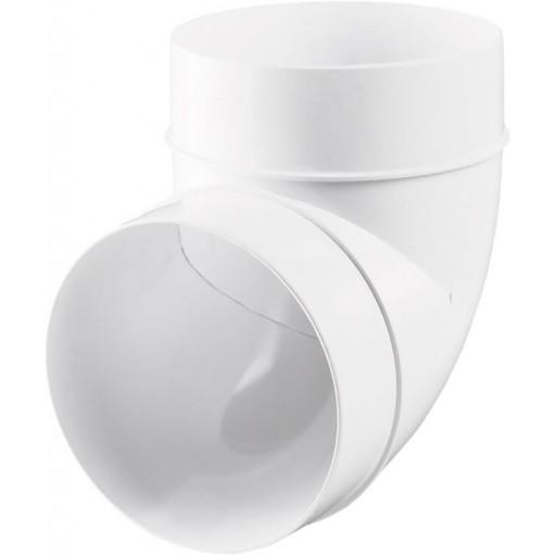 Колено 90° пластиковое для круглых воздуховодов Ø100 (121)