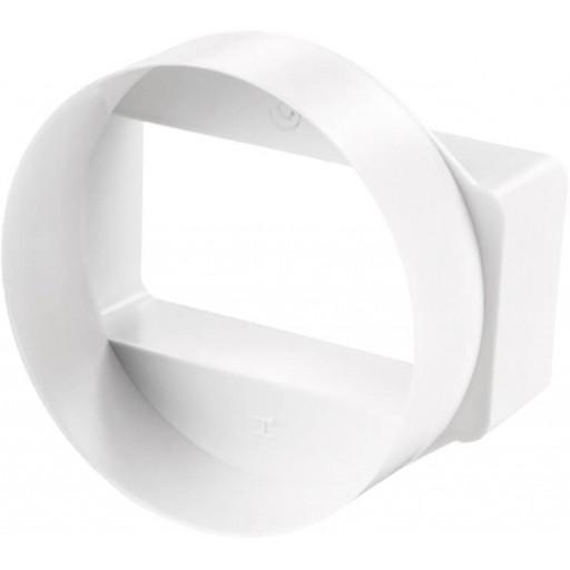 Редуктор (переход) с прямоугольного воздуховода на круглый 55х110/Ø100 (115)