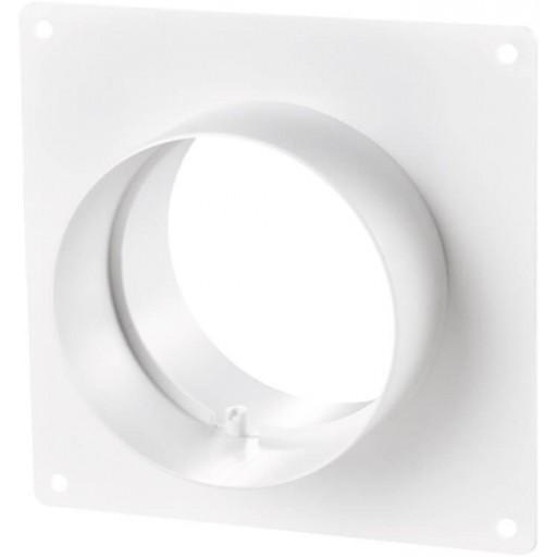 Соединитель пластиковый для круглых воздуховодов на пластине Ø100 (151)
