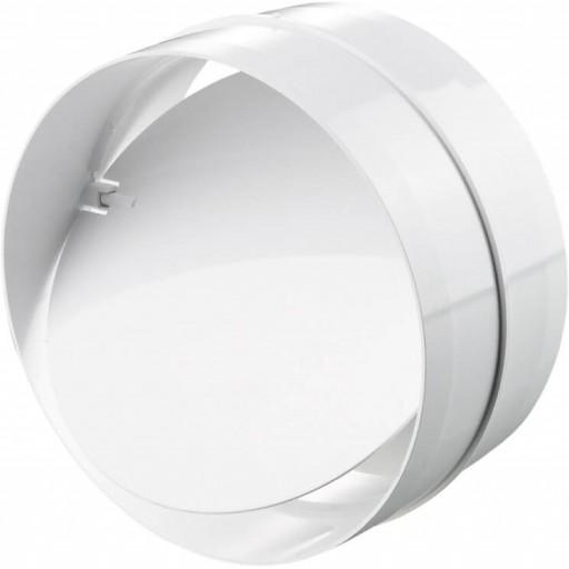 Соединитель пластиковый для круглых воздуховодов с обратным клапаном Ø100 (1111)
