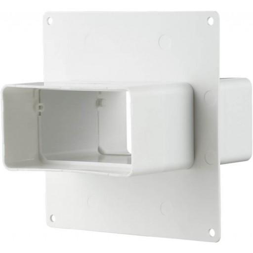 Соединитель пластиковый для прямоугольных воздуховодов на пластине 55х110 (555)