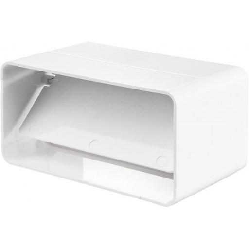 Соединитель пластиковый для прямоугольных воздуховодов с обратным клапаном 55х110 (5151)
