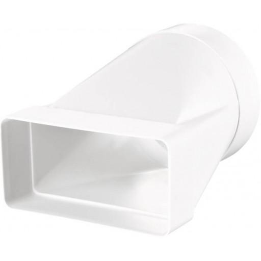 Соединитель пластиковый для прямоугольных воздуховодов с круглыми 55х110/Ø100 (511)