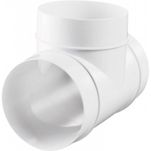 Тройник пластиковый для круглых воздуховодов Ø100 (131)
