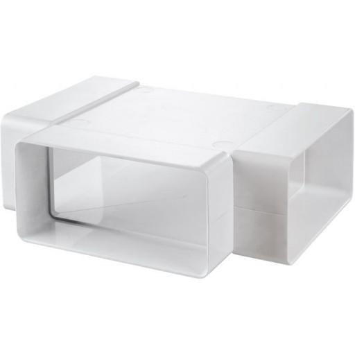 Тройник пластиковый для прямоугольных воздуховодов 55х110 (535)