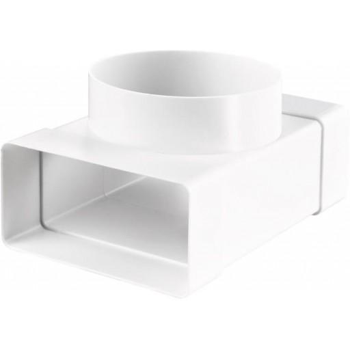 Тройник пластиковый для прямоугольных и круглых воздуховодов 55х110/Ø100 (531)