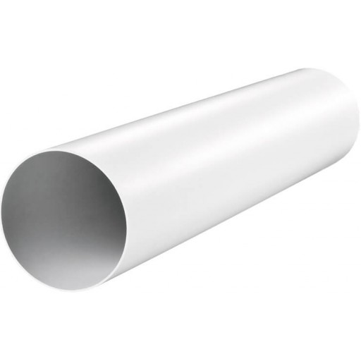 Воздуховод круглый пластиковый ПВХ Ø100 L-2000 (1020)