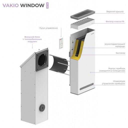 Проветриватель-рекуператор Vakio Window Plus