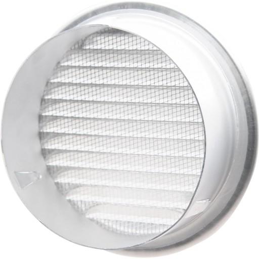 Вентиляционная решетка круглая алюминиевая с защитной сеткой от насекомых DEC DWRA 315 S