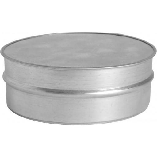 Заглушка торцевая круглая оцинкованная Ø160