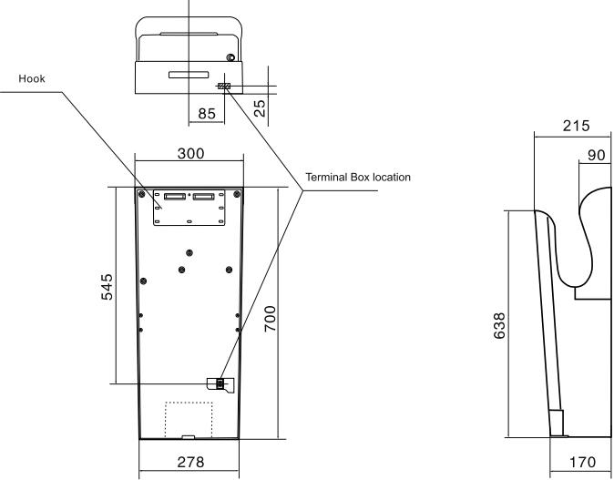 Сушилка для рук Vortice Vort Super Dry UV - Размеры