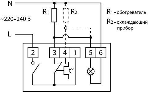 Термостат механический Ballu BMT - Электрическая схема подключения