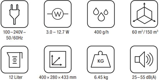 Мойка воздуха Boneco W400 - Характеристики