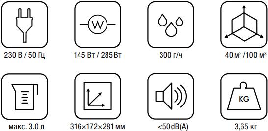 Паровой увлажнитель воздуха Boneco S200 - Характеристики