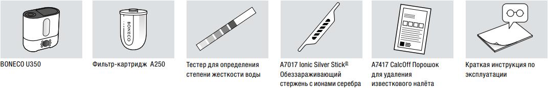 Ультразвуковой увлажнитель воздуха Boneco U350 - Комплектация