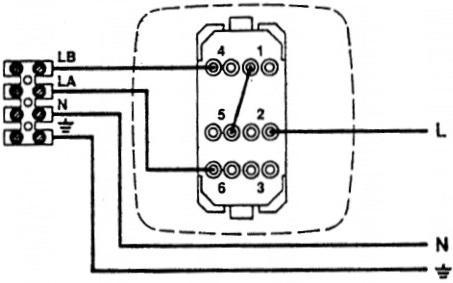 Переключатель скоростей Soler&Palau Regul-2 - Схема подключения