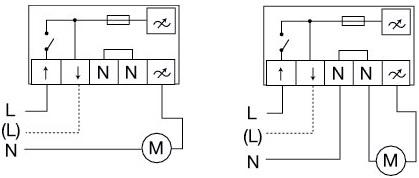 Тиристорный регулятор скорости Systemair REE 1 - Схемы подключения