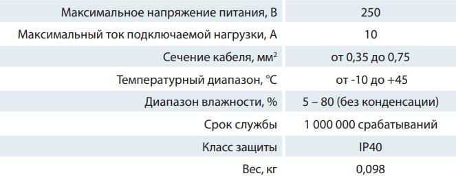 Переключатель скоростей Вентс П2-10 - Характеристики