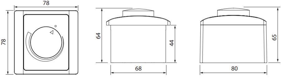 Тиристорный регулятор скорости EC-моторов Вентс Р-1/010 - Размеры