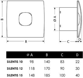 Cata Silentis - Габаритные размеры