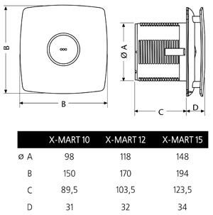 Cata X-Mart - Габаритные размеры